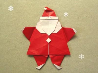 Видео оригами Дед Мороз схема