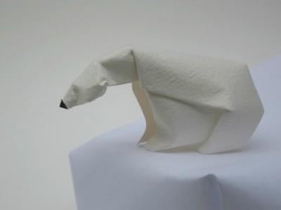 Белый медведь из бумаги мастер-класс