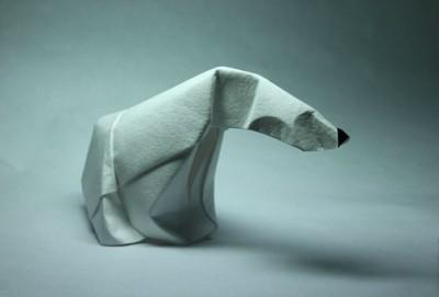 Белый медведь своими руками оригами видео сборка