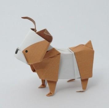 Бульдоги оригами из денежой купюры от Janessa Munt