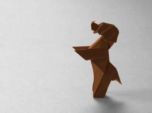 Как сделать собаку оригами «Down Boy!» от Paul Frasco