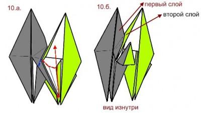 Кусудама Nordblumen схема складывания 2