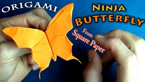 Мастер-класс origami Flapping Butterfly от Jeremy Shafer