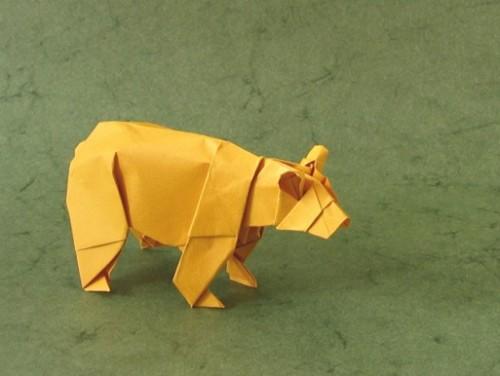 Медведь оригами за схемой Stephen Weiss