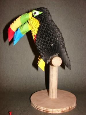 Модульная сборка оригами Тукан мастер-класс