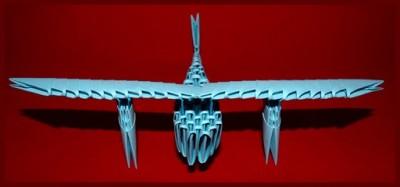 Модульное оригами Самолет схема сборки