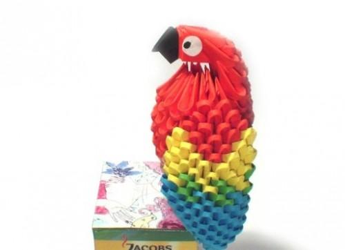 Модульное оригами попугай схема сборки