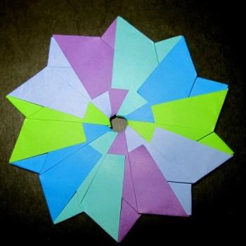 Модульное оригами звезда схема сборки от Christine Edison
