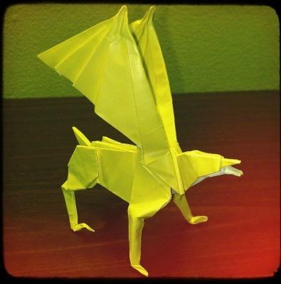 Необычное оригами Гиппогриф