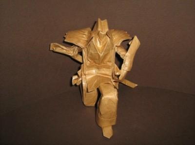 Необычное оригами из бумаги Мечник видео урок