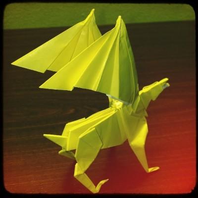 Необычные поделки оригами Гиппогриф