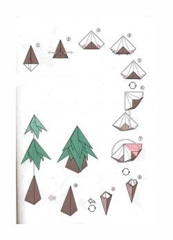 Новогодняя елка схема складывания 2