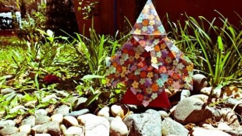 Оригами Дерево за схемой Marcela Brina