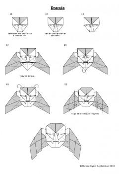 Оригами Дракула фото схема сборки 44-50