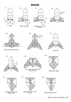 Оригами Дракула пошаговая схема 31-43