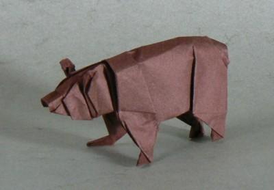 Оригами Медведь схема сборки