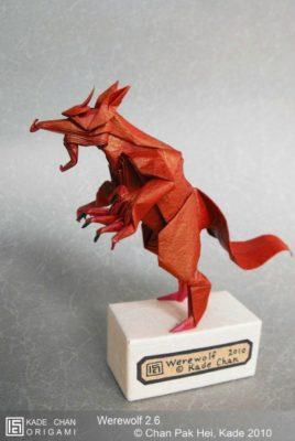 Оригами Оборотень (Werewolf) за схемой Kade Chan