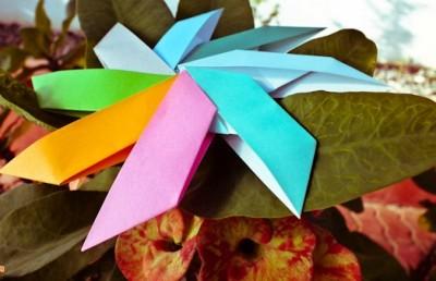 Оригами Солнце из модулей от Garibli Ilan