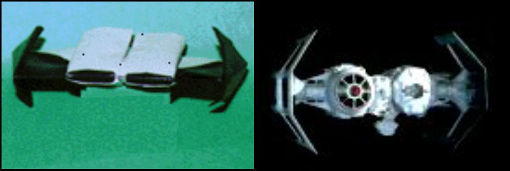 Оригами TIE Bomber видео урок