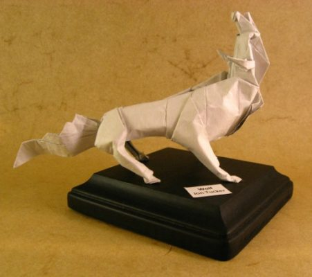 Оригами Волк за схемой Jon Tucker