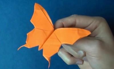 Оригами бабочка схема сборки от Jeremy Shafer