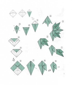 Оригами елка схема сборки 1