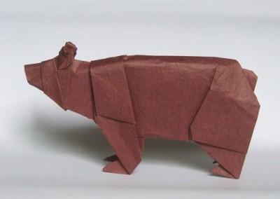 Оригами из бумаги Медведь