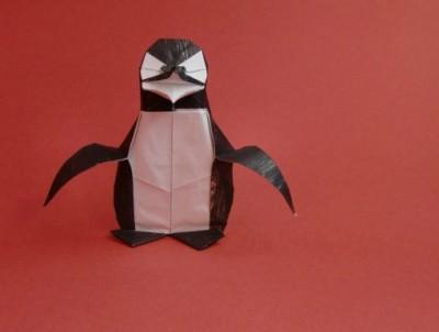 Оригами из бумаги пингвин мастер-класс по сборке