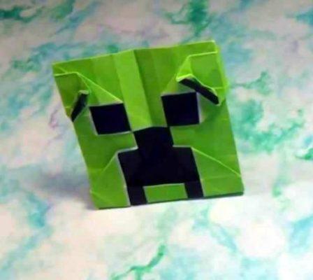 Оригами от Джереми Шафера - страшилка Minecraft Creeper face