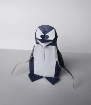 Оригами пингвин видео урок по сборке