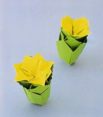 Оригами цветочек Жасмин видео урок
