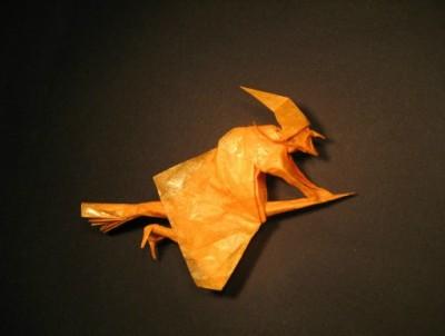 Оригами ведьма своими руками
