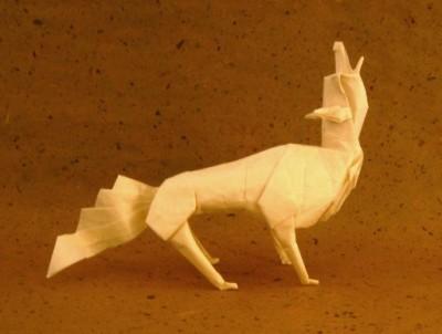 Оригами волк видео схема от Jon Tucker