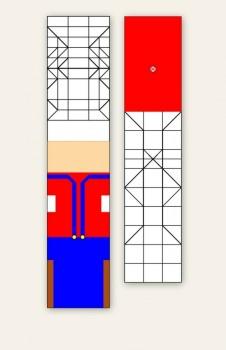 Паттерн сборки оригами Марио от Jo Nakashima