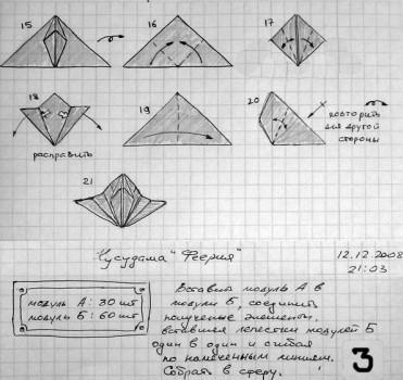 Сборка кусудамы Feyrah от Михаила Пузакова схема 3