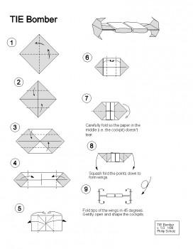 Схема как сделать оригами бомбардировщик