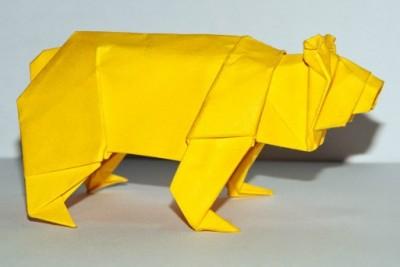 Схема оригами Медведь