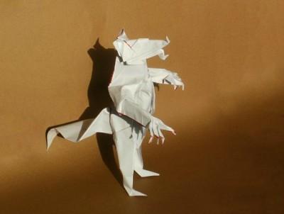Схема сборки Оборотень из бумаги от Kade Chan