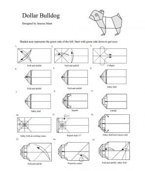 Схема сборки манигами Бульдог от Janessa Munt Часть 1