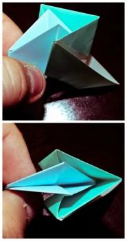 Схема сборки модулей оригами солнышко