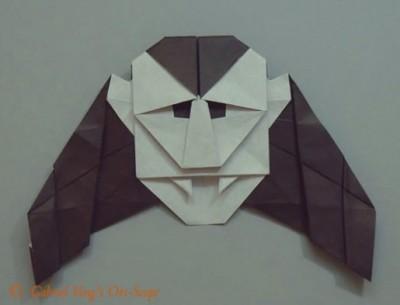 Видео урок оригами Дракула от Robin Glynn