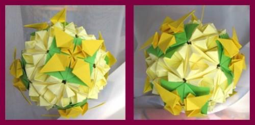 DALIDA оригами кусудама схемы от Михаила Пузакова