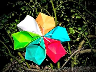 Как сделать бумажный цветок схема сборки