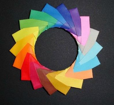 Как сделать кольцо оригами из модулей от Mette Pederson
