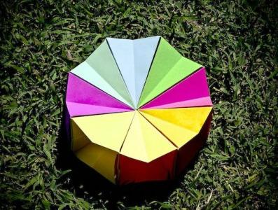 Круг из бумаги оригами мастер класс