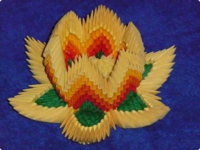 Лотос оригами цветов из бумаги