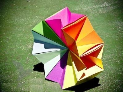 Магический круг из бумаги оригами