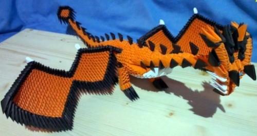 Модульное оригами Дракон за схемой Garry Wing