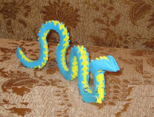 Модульное оригами Змея видео мастер-класс