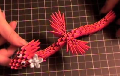 Модульное оригами дракон схема сборки